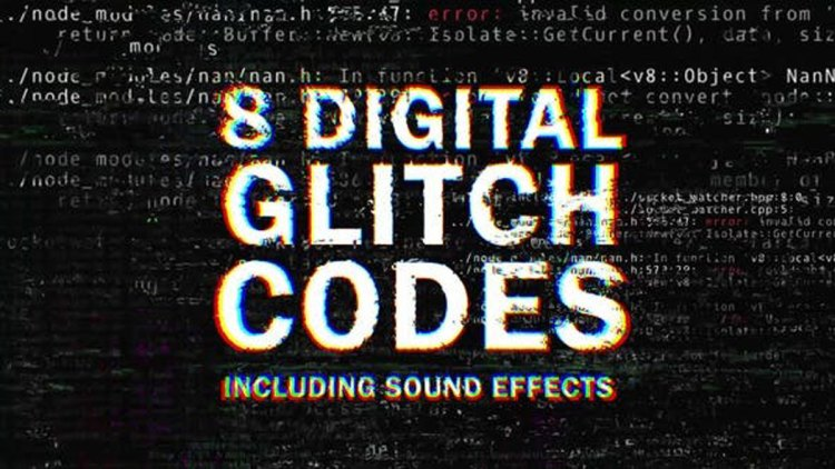 Videohive 8 Digital Glitch Codes 26375434