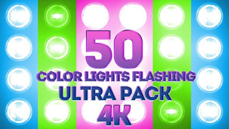 Videohive Color Lights Flashing Ultra Pack 4K 23662248