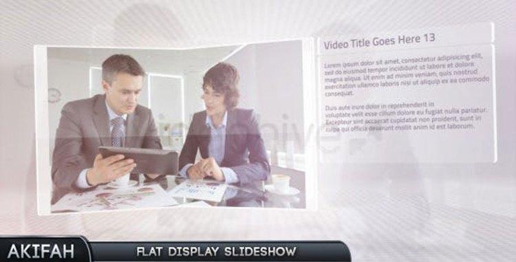 Videohive Flat Display Slideshow 4991109
