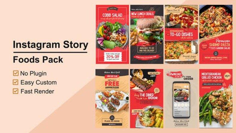Videohive Foods Instagram Stories V12 27802574