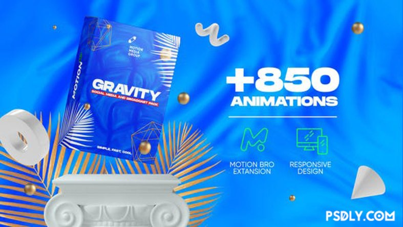 Videohive Gravity | Social Media and Broadcast Pack 26414068