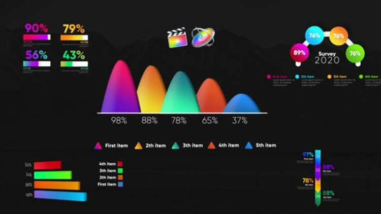 Videohive Infographic Modern Graphs-Final Cut Pro 27409746
