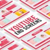 Videohive Sweet Youtube End Screens 27101956