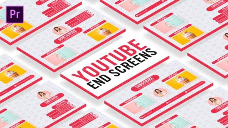 Videohive Sweet Youtube End Screens 27101956