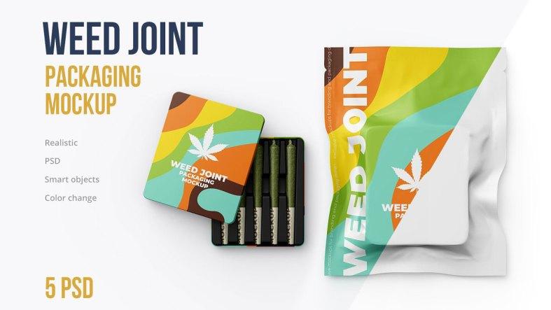 Weed Joint Packaging Mockup 4826343
