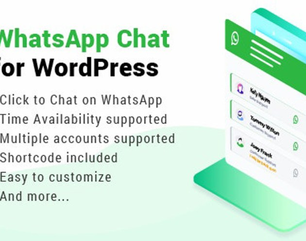 WhatsApp Chat for WordPress plugin allows you to integrate your WhatsApp experience directly into your website. This is one of the best way to connect and interact with your customers, you can offer support directly as well as build trust and increase customer loyalty.