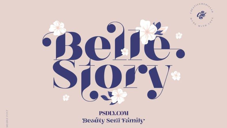Belle Story - Beauty serif family 5173153