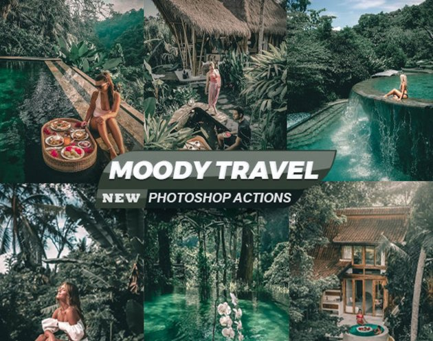 Moody Travel Blogger Photoshop Actions 26544157