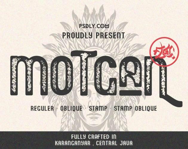 Motgan - Vintage Font 781727