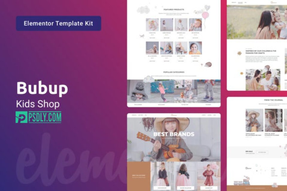 ThemeForest Bubup Kids Store Baby Shop Elementor Template Kit v1.0 28297416 2