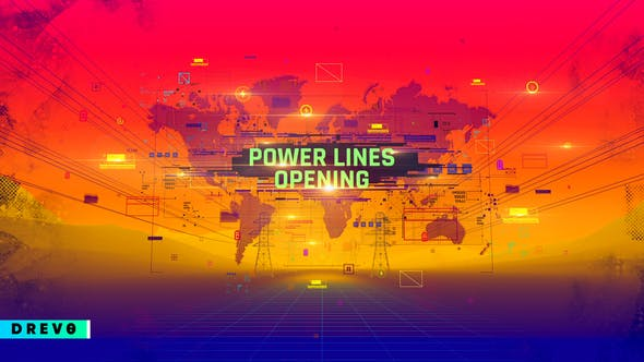 Videohive Power Lines Opening 29090364