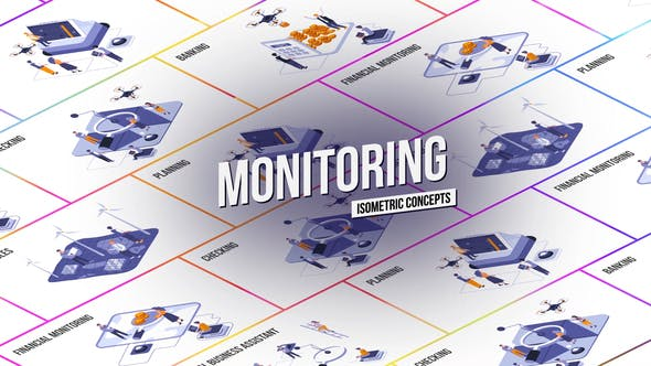 Videohive Monitoring Isometric Concept 28986926