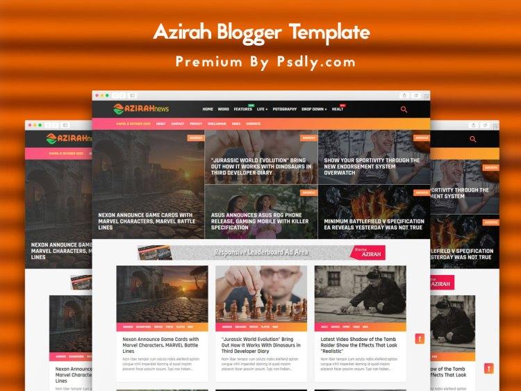 Azirah Blogger Template