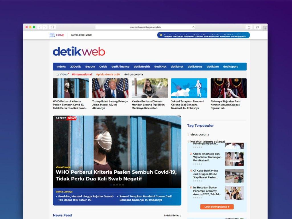Template Blogger Detikweb Gratis