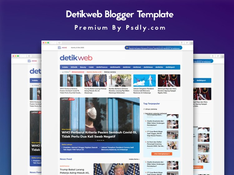 DetikwebDetikweb Blogger Template Premium Gratis