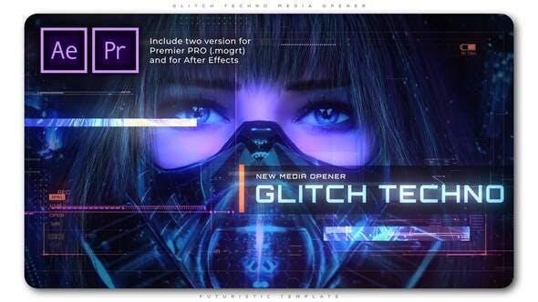 Videohive Glitch Techno Media Opener 28907727