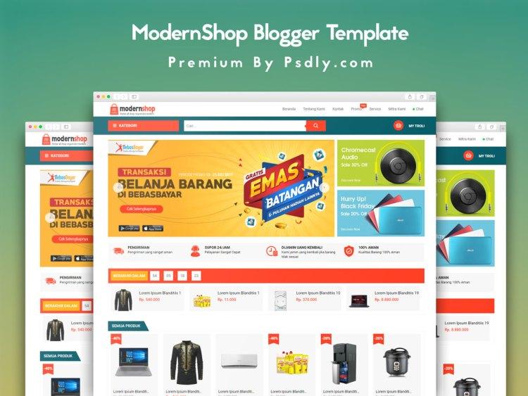 ModernShop Blogger Template Premium Version Free Download
