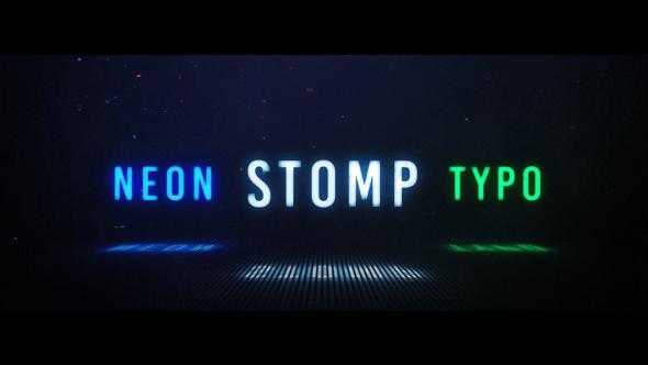Videohive Neon Stomp Typographic 23896870