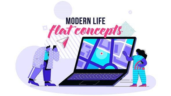 Videohive Modern life Flat Concept 28730449