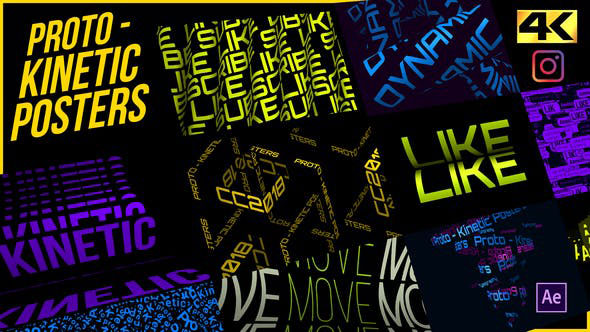 Videohive Proto Kinetic Posters 26556971