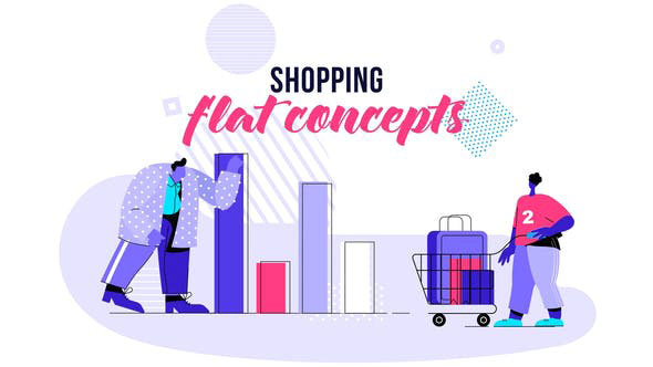 Videohive Shopping - Flat Concept 28730465