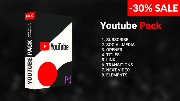 Videohive Youtube Pack 23736566