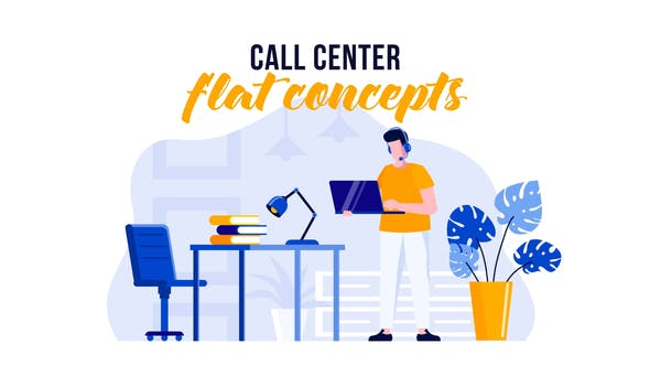 Videohive Call center - Flat Concept 29529523