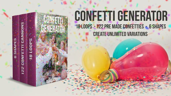 Videohive - Confetti Generator Bundle - 21668805