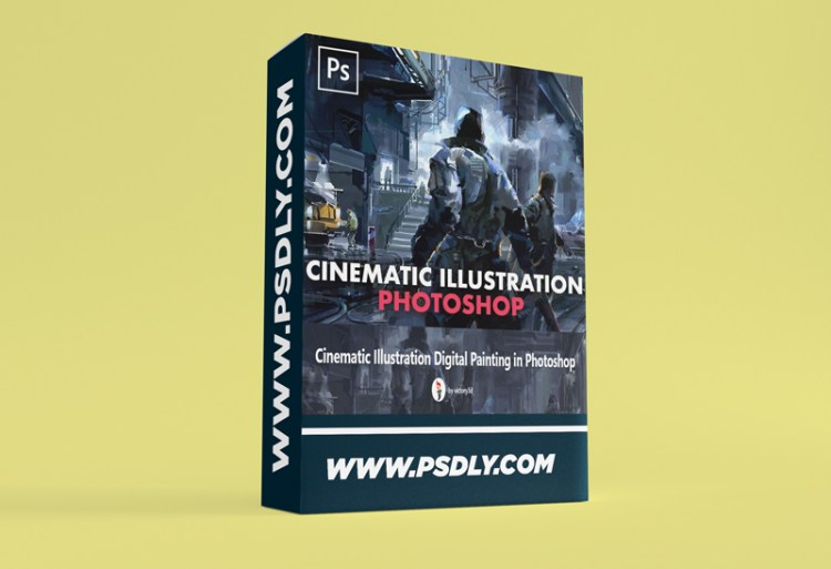 Cinematic Illustration Digital Painting in Photoshop