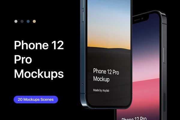 Phone 12 Pro 20 Mockups Scenes