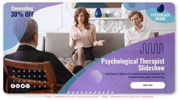 Videohive Psychological Therapist Slideshow 29478943
