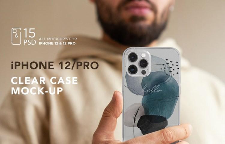 Free Creativemarket Iphone 12 Pro Clear Case Mockup 5639507 ʖ