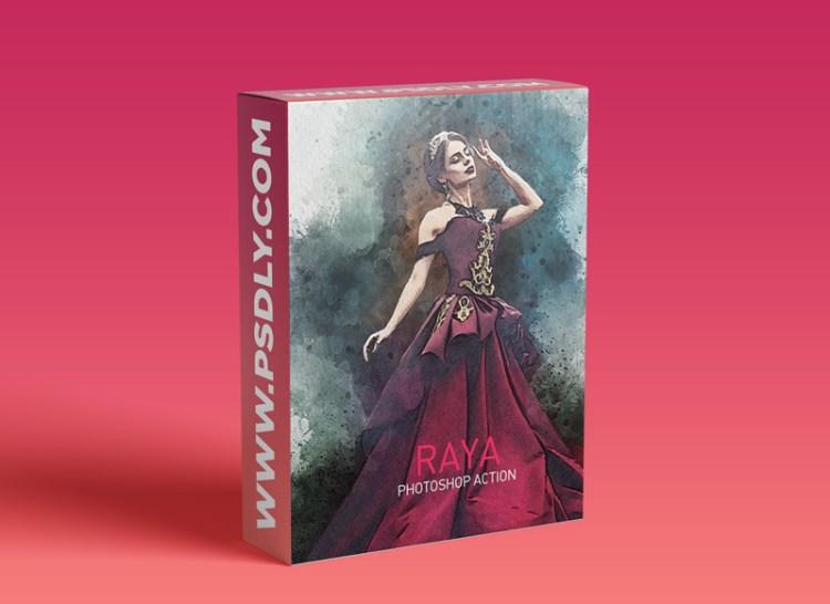 GraphicRiver - RAYA Vivid Painting Photoshop Action 29408251