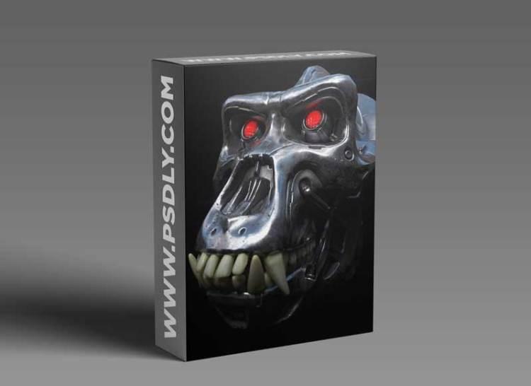 Artstation – Mechanical Skull – Michael Pavlovich