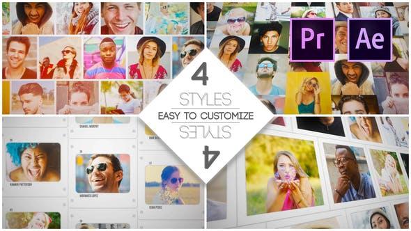 Videohive - Mosaic Slides Logo Opener - 28626870