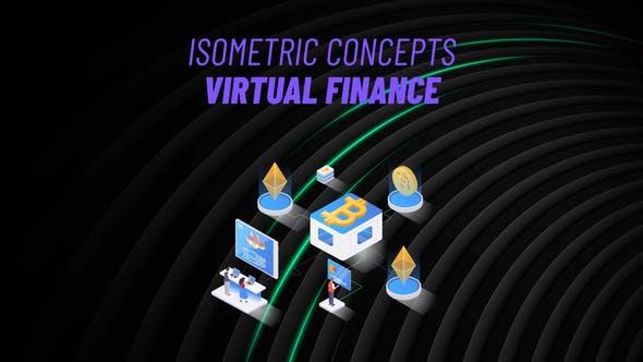 Videohive Virtual Finance Isometric Concept 31223605