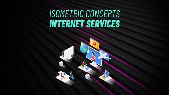 Videohive Internet Services Isometric Concept 31223559