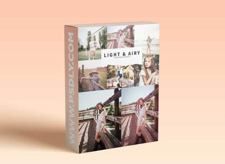 CreativeMarket - 10 Light & Airy Lightroom Presets 5978574