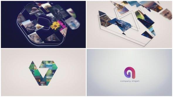 Videohive Sketch Mosaic Logo Reveal 31236453