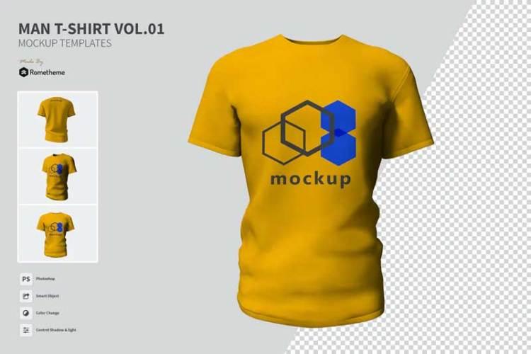 Man T-shirt - Mockups VR M6KJVPD
