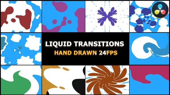 Videohive 2D FX Liquid Transitions Da Vinci 30591345