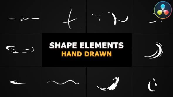 Videohive Cartoon shape elements DaVinci Resolve 30955617