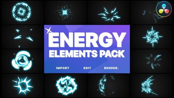 Videohive Energy Elements DaVinci Resolve 30571837