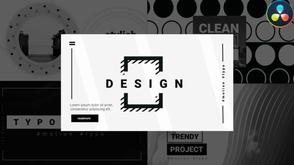 Videohive Monochrome Typography 29971198