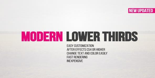 Videohive Modern Lower Thirds 14862882