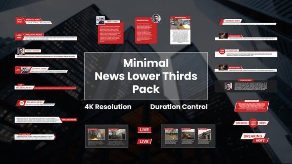 Videohive Minimal News Lower Thirds Pack 28006846