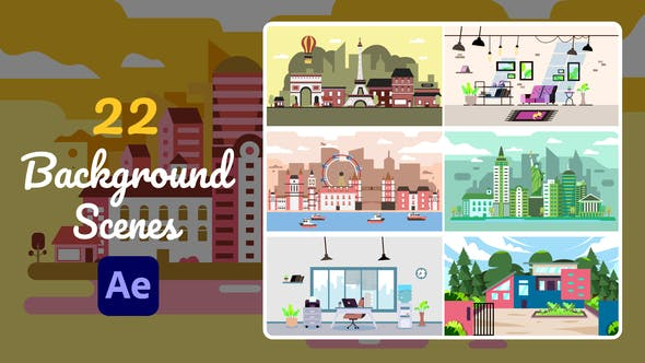 Videohive 22 Background Scenes After Effects 30595668