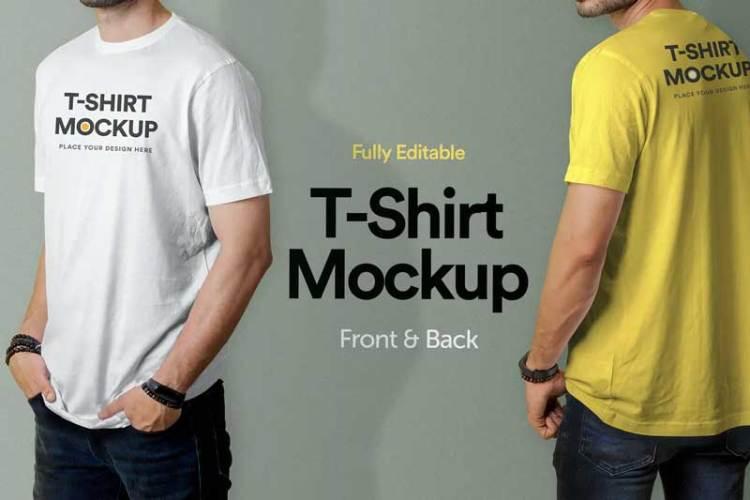 T-Shirt Mockup - Vol 02 BFLZVUE