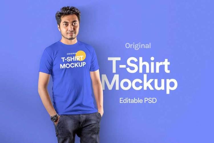 T-Shirt Mockup - Vol 19 BXRFML9
