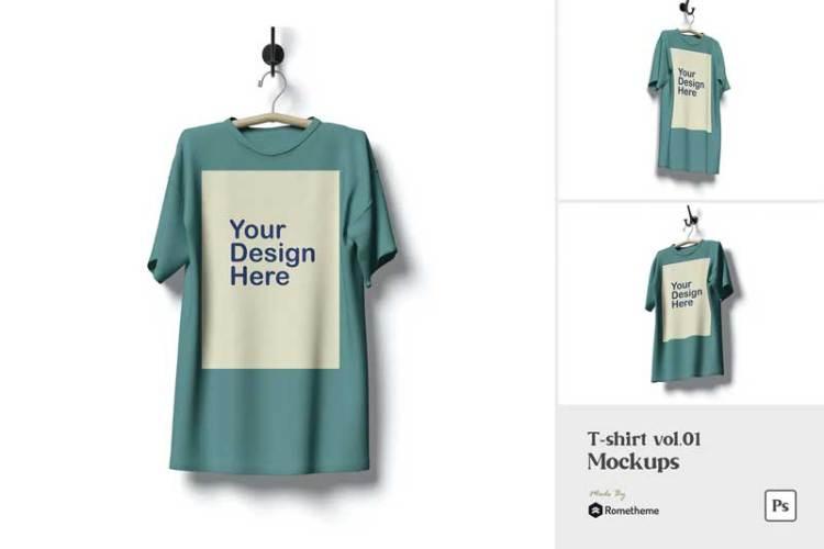 T-shirt - Mockup FH W4WXVRZ